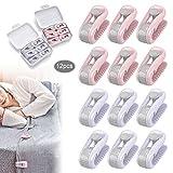 JEEZAO 12 Stück Bettdeckenbezug-Clips,Bettlakenhalter, Prevent Bunching & Shifting,Wäscheklammern