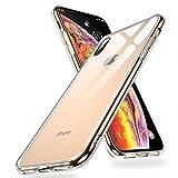 Humixx iPhone XS Max Hlle,Hochwertigem 9H Gehrtetem Anti-Gelb Glas Rckseite mit Soft TPU Weich Rahmen Schutzhlle,Ultra Dnn Transparent Crystal Clear Handyhlle fr iPhone XS Max - Klar (iPhone XS-18)