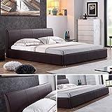 i-flair - Designer Polsterbett, Bett Monaco 160cm x 200cm Braun - Alle Farben & Gren